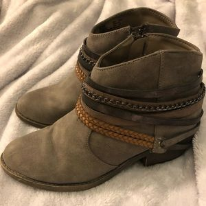 Kohl's faux dude booties like new